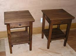 1 drawer 1 door shaker side table in natural walnut