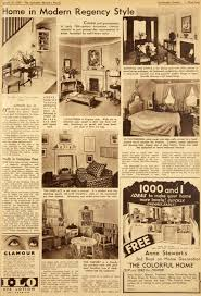 The Wartime Home  Interiors Of January  The War Time Woman - 1930s house interiors