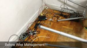 Office cord management Taihan Co Youtube Wirecable Management And Ups