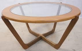 1960 s retro teak wood round coffee table sold