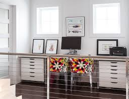ikea home office. Ikea Office Bedroom With Leather Executive Chairs Home Contemporary And Dark Wood Floor