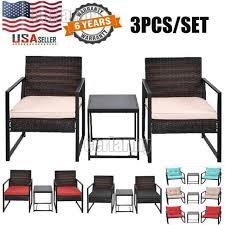 rattan wicker furniture set 3pc