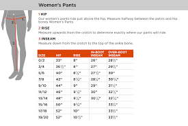 Size Chart Women Pants Pant So