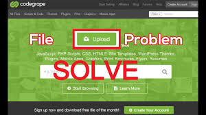 How To Solve Codegrape File Upload Problem Codegrape Tutorial