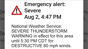New 'Destructive' Severe Thunderstorm ...