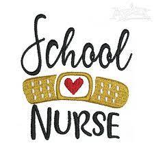 School Nurse Embroidery Design   Apex Embroidery Designs, Monogram Fonts & Alphabets