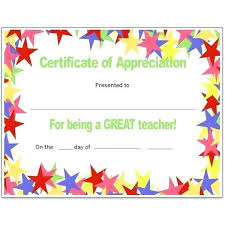 Vbs Certificate Template 8 Free Printable Certificates Of Appreciation Templates