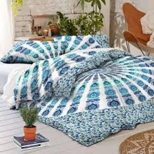 indian print cotton duvet cover ombre mandala bohemian be