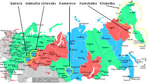 Time Map Russia Time Zones Map With Current Local Time 24 Hour Format
