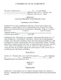Free Sample Lease Agreement Awesome Lease Agreement Template Word Le Commercial Agreements In Simple