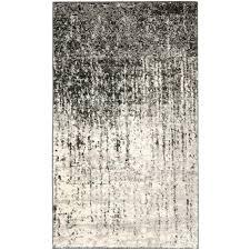 safavieh retro black light grey 3 ft x 5 ft area rug