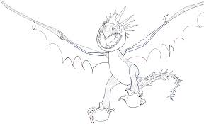 finished line drawing of stormfly how to train your dragon