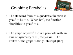 14 graphing parabolas the standard form