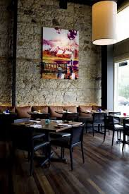 ... Fantastic Small Restaurant Interior Design Ideas For Your Inspiration :  Extraordinary Grey Natural Stone Wall For ...