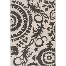 surya alfresco 6 x 9 outdoor rug in gray