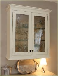 small white wooden glass door display cabinets