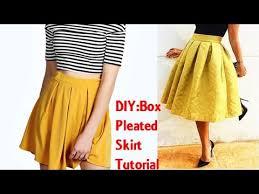 Pleated Skirt Pattern Gorgeous DIY Box Pleated Skirt Tutorial YouTube