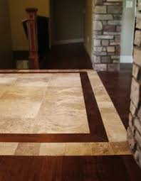 pictures of hardwood floor with tile inlay