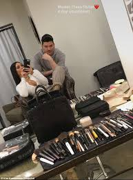 the countdown is on kim kardashian and makeup artist mario dedivanovic got some prep in