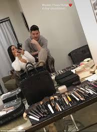 the countdown is on kim kardashian and makeup artist mario dedivanovic got some prep in