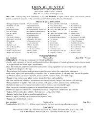 Mechanic Resume Aircraft Mechanic Resume Mechanic Resume Skills