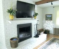 painted fireplace brick makeover ideas white before and after pai interior how to paint a brick fireplace beautiful can you painted diy white