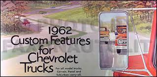 1962 chevrolet truck wiring diagram manual reprint 1962 chevy van pickup truck reprint color accessory catalog