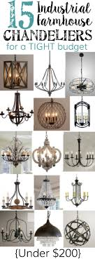 industrial farmhouse chandeliers for a tight budget  bless'er