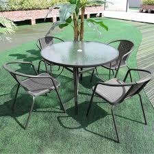 garden folding bistro table set 4 seat