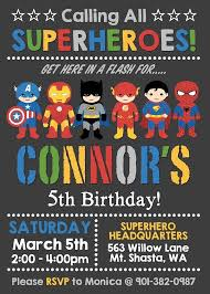 Personalized Superheroes Superhero Birthday Invitation Personalized For Your Party