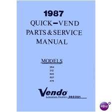 Vendo Vending Machine Manuals Simple USERSERVICEPARTS MANUAL For VENDO 48 48 48 48 48 QuickVend