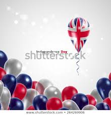 uk flag on balloon celebration and gifts balloons on the feast of the national