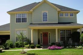 Exterior:Rasta House Accent By Painting The House With Red Yellow And Green  Tone Classy