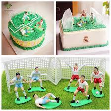 aliexpress com buy 8pcs set cake topper soccer football player