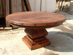 awesome large rustic round dining table photos
