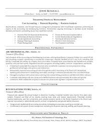 treasury resume
