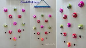 diy wall decoration idea how to make easy paper wall hanging for diwali decoration