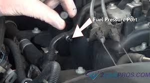 how to test a fuel pump in under 15 minutes fuel pressure test port
