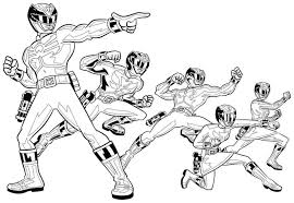 Power Rangers Coloring Pages Print 8186