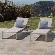 cape c silver 2 piece metal outdoor chaise lounge