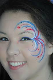 fireworks face paint idea