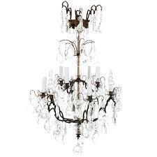 bronze crystal chandelier 6 light