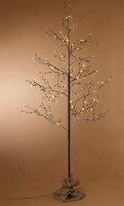 Outdoor Lighted Stick Trees Gerson Everlasting Glow Outdoor Snowy 6 Birch Lighted Tree