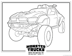Monster Truck Coloring Pages To Print Free Printable Online Tow