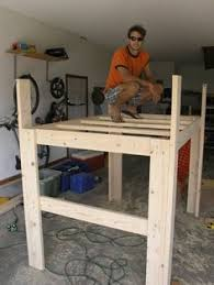 diy loft bed plans free   College Bed Lofts - Basic Loft Bed   loft bed    Pinterest   Loft bed plans, College bedding and Bed plans
