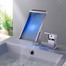 3 hole bathroom sink faucet. color waterfall led bathroom sink faucet single hole modern-bathroom 3 t