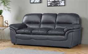 gallery rochester grey leather sofa 3 seater