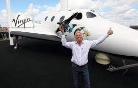 Sir Richard Branson Departs for First ...