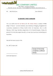 Internship Certificate Format Mba Best Of Cover Letter Format For ...