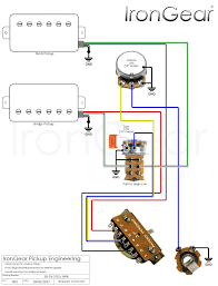 irongear pickups wiring 2 humbuckers 1 volume 1 tone coil split at Guitar Wiring Diagrams 2 Humbucker 3 Way Toggle Switch